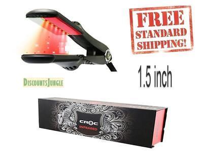 "NEW Croc TurboIon Infrared Digital Ceramic Flat Hair Iron Straightener 1.5"" INCH"