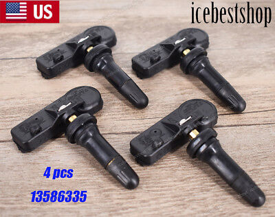 4 x OEM Tire Pressure Monitoring Sensor For Chevrolet Silverado1500 HHR 13586335