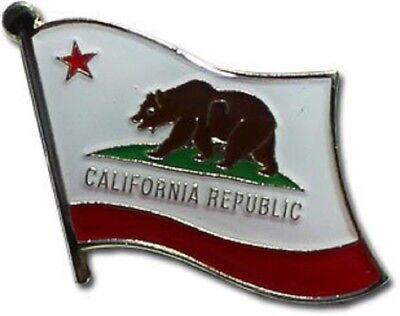 Wholesale Pack of 50 State of California Flag Bike Hat Cap lapel Pin