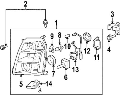 2007 escalade headlight wiring diagram
