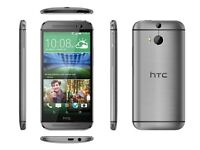 NEW HTC ONE M8 16GB 3G 4G GUN METAL GREY BNIB UNLOCKED SMART MOBILE PHONE UK NEW