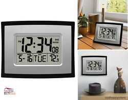 Digital Wall Clock Timer Calendar Indoor Temperature Alarm Wall Mount Standing