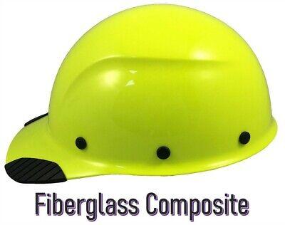 Dax Fiberglass Composite Lift Safety Cap Style Hard Hat - Hi Viz Lime
