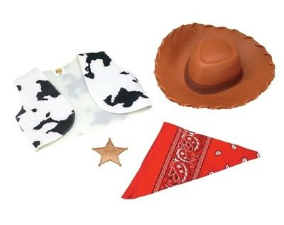 Disney Toy Story Woody Child Costume Accessory Kit Hat Vest Badge Bandana - Woody Vest