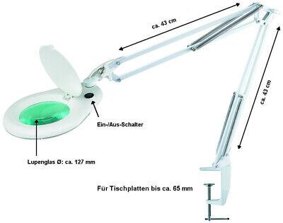 LED Lupenleuchte 5 Dioptrien Arbeitsleuchte Lupenlampe Lupe Kaltlicht Kosmetik
