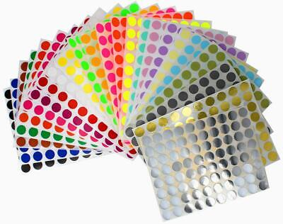 Round Marking Color Coded 13mm Labels 1/2 Inch File Folder Dot Circles 1920 Pack Color Coded Colored File Folder