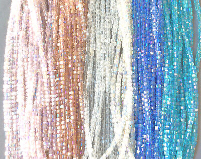 Pink Blue Crystal Aqua Faceted 3mm Cube Chinese Crystal Glass Beads 2 Strands