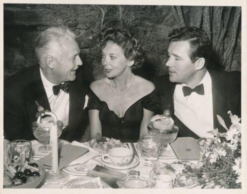 IDA LUPINO & Husband HOWARD DUFF Original CANDID Vintage 1950s Studio Photo