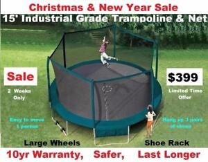 15',ft,foot,feet,Trampolines & Enclosure Industrial Grade,Christmas Sale $399,10 yr Warranty, Great Bounce,Safer,Study