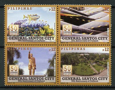 Philippines 2018 MNH General Santos City 4v Block Tourism Landscapes Stamps