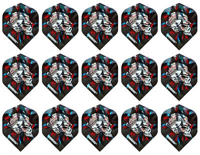 5 New Sets Winmau 3D Metallic Standard Dart Flights – Side Skull