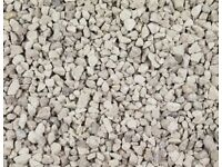 Approx 20 bags of dove grey decorative aggregate / stones