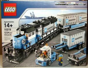 NEW LEGO SET - 10219 MAERSK TRAIN - 1234 PIECES - FACTORY SEALED