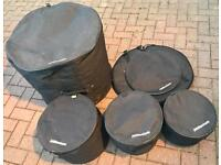 "**NOW SOLD** Drum cases - T10T""12""T14""K22""SN14"" & 22"" Cymbal bag"