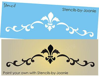 French Fleur Scroll Stencil 6