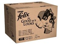 120 pk of Felix AGAIL Cat Food Pouches Mixed Selection in Jelly £29, or 80 pk for £20