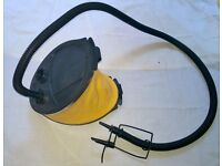Hardly used yellow foot pump