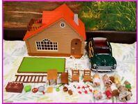 Bundle Sylvanian Families Log Cabin