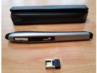 Genius Wireless Pen Mouse Optical Pen Style Mouse 2.4Ghz 1200dpi sensor + Travel Pouch