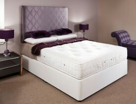 BEST BUY AT LOWEST BUDGET = BRAND NEW BLACK WHITE DOUBLE OR KING SIZE BASE DIVAN BED+STORAGE DRAWERS