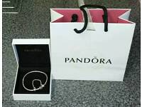 Official Pandora Snake Bracelet And Safety Chain