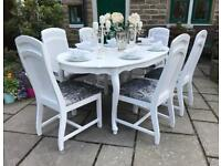 Dining Table & 6 Chairs ~ Double Extension