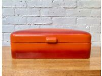 Vintage Retro Orange Enamel Bread Bin #447