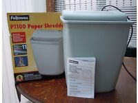 FELLOWES 11-SHEET PAPER SHREDDER MODEL: P1100 GD WORKING ORDER
