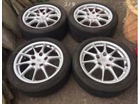 "Porsche 996 17"" alloy wheels Boxster vw t4 golf staggered stance BBS"