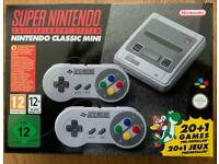 Official Nintendo SNES mini classic console with 7700 games