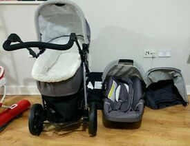 hauck viper trio travel system. carry cot+car sest+stroller. (3 in 1)