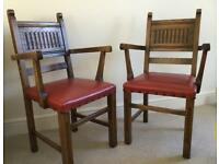Pair of Oak 'carver' Dining Chairs