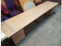 2 PEOPLE HEAVY DUTY ASH BENCH STRAIGHT DESK WITH DRAWERS 5 AVAILABLE