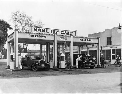 Old Photo.   Red Crown Gas Station](Crown Station)