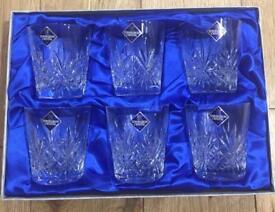 Edinburgh Crystal Whiskey Glasses x6