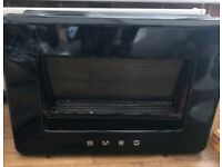 Smeg Retro Black Wall Hung Gas Fire