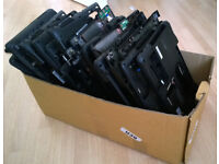 Scrap laptop bottom cases with Windows 7 and Windows Vista COA licences attached