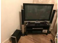 """Samsung 42"""" plasma television and home theatre kit 500w output"""