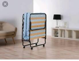 Folded single bed