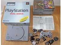 Boxed Sony Playstation 1 PS1 Bundle inc 17 Games inc Spyro, Crash Racing