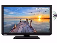 Toshiba 22 Inch Full HD 1080p Widescreen LED TV with Freeview and Built-in DVD Player