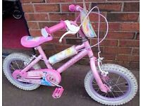 """Girls 14 """" Bike - Pink Disney REDUCED TO CLEAR!"""