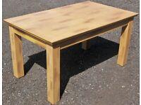 Sturdy Extending Dining Kitchen Table, 150-195 x 90 x 78cm High, Beechwood?