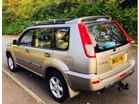 NISSAN X-TRAIL SPORT, 2.0 4x4 MANUAL PETROL, LONG MOT AND ONLY 82000 MILES. FSH