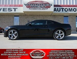 2012 Chevrolet Camaro 2SS, 426HP 6.2L 6SPD, LEATHER, ROOF, BLACK