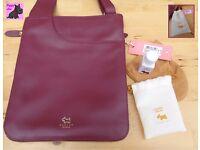 RADLEY - Pocket Bag - Burgundy Leather Messenger *NEW with FREE gift*