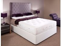 AMAZING OFFER!! DOUBLE DIVAN BED BASE WITH LUXURY 1000 POCKET SPRUNG MATTRESS FREE DELIVERY