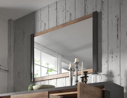 Grote Spiegel Industrieel : ≥ spiegel monaco eiken grijs industrieel met omlijsting