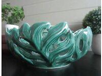 Vintage Style Ceramic Bowl cabbage leaf / palm leaf design NEW vintage chic
