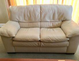 Natuzzi leather settee